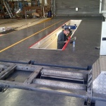Commercial Maintenance Services, trailer bay, trailer rolling road,